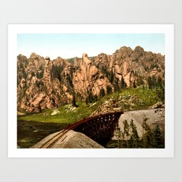 Cathedral Park, Garden of the Gods, Colorado Springs, Colorado, 1901 Art Print