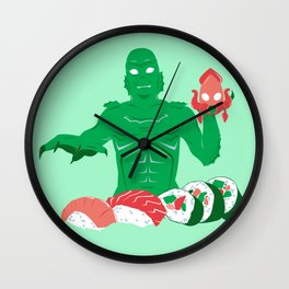 Sushi from the Black Lagoon Wall Clock