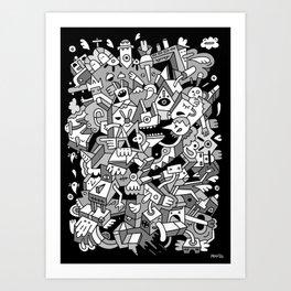 Nifty Shades of Grey Art Print