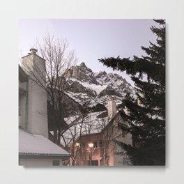 Cabin in the mountains, Alberta, Canada Metal Print