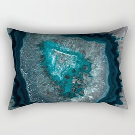 Earth treasures - Blue Agate Rectangular Pillow