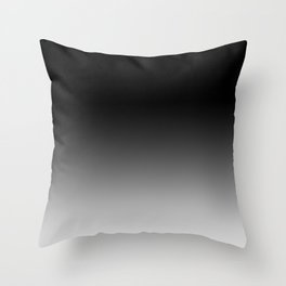 Blurred Black and White Throw Pillow