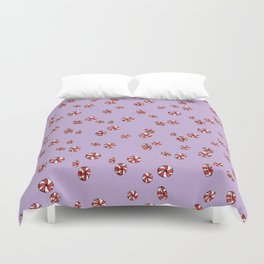 Peppermint Candy in Purple Duvet Cover