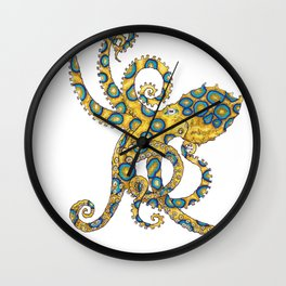 Blue Ringed Octopus dance Wall Clock