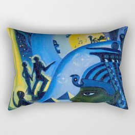 African American Masterpiece 'Ascent of Ethiopia' by Lois Jones Rectangular Pillow