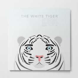The White Tiger Metal Print
