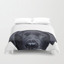 Labrador with white background Dog illustration original painting print Duvet Cover