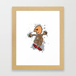 Curled Man Framed Art Print