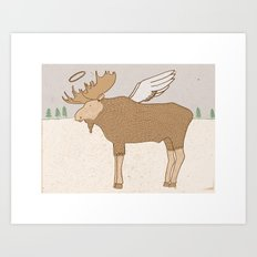 Holy Moose Art Print
