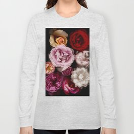 Red, White, Yellow, and Pink Roses Long Sleeve T-shirt