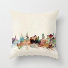 liverpool england skyline Throw Pillow