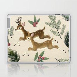 winter deer // repeat pattern Laptop & iPad Skin