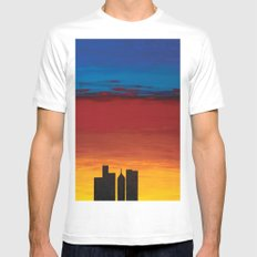 City Morning Mens Fitted Tee MEDIUM White