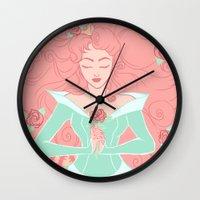 sleep Wall Clocks featuring Sleep by Taija Vigilia