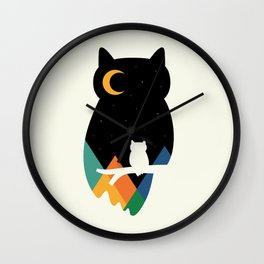 Eye On Owl Wall Clock