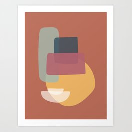 Abstract Kitchen Cupboard Art Print