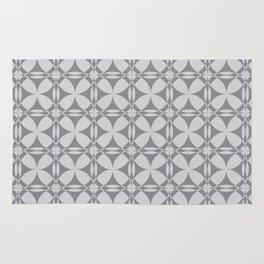Abstract Circles - Gray Pattern Rug