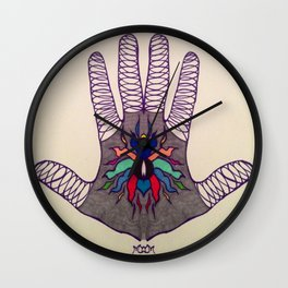 Hand Of Happiness  Wall Clock