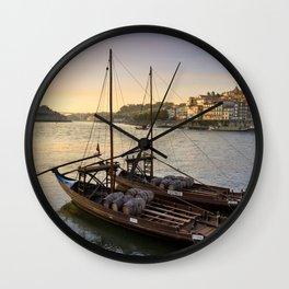 Oporto sunset,  Portugal Wall Clock