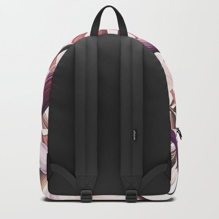 Magenta tropical Backpack