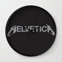 helvetica Wall Clocks featuring Helvetica! by Ferrence