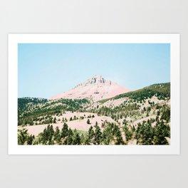 Happy Mountain #society6 #decor #buyart Art Print