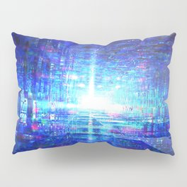 Blue Reflecting Tunnel Pillow Sham