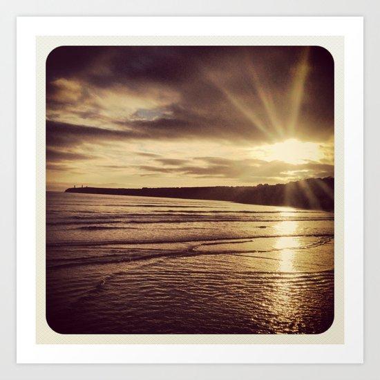Sunrise on the Beach Art Print