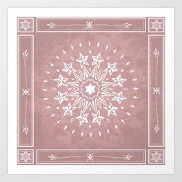 Mauve Magic Mandala Art Print