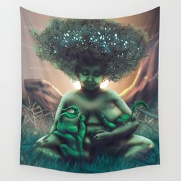 Mother Baobab Wall Tapestry