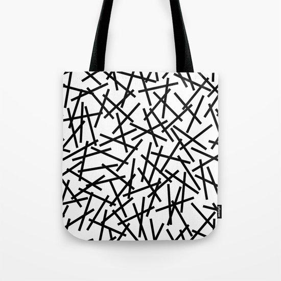 Kerpluk Black on White Tote Bag