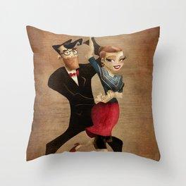 saul & annie Throw Pillow