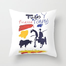 Toros Y Toreros (Bulls and Bullfighters) Artwork By Pablo Picasso T Shirt, Book Cover Throw Pillow