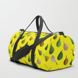 Pears pattern in yellow background Duffle Bag