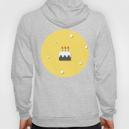 Birthday Party Cake With Candles Yellow Pattern Hoody