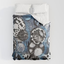 The Mick J - Black and White Circles Comforters
