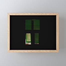finestra verde Framed Mini Art Print