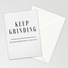 Keep Grinding Stationery Cards