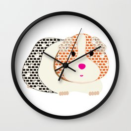 Guinea Pig Patterned Guinea Pig Wall Clock