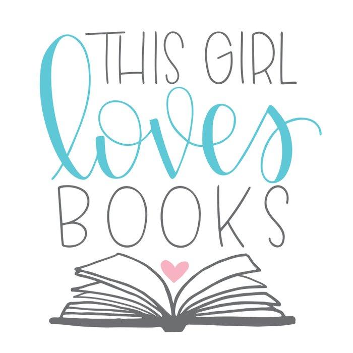 This Girl Loves Books Duvet Cover