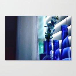 Blue Bottles - 2 Canvas Print