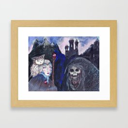 Encounter at Doom Mountain Framed Art Print