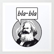 bla-bla Art Print