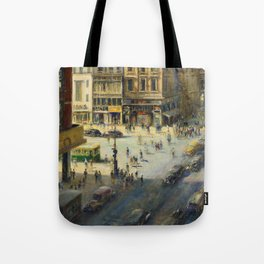 American Masterpiece 'Greenwich Village, NY' by Alfred S. Mira Tote Bag