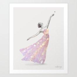 Crystal Ballerina Art Print