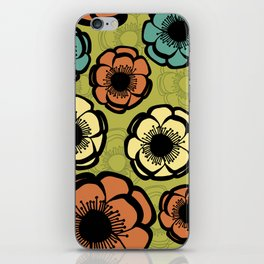 Bold Retro Flower iPhone Skin