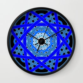 Not Quite Tangled Inside Out (Black Light Version) Wall Clock