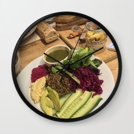 The French Vegan, To Your Health Wall Clock