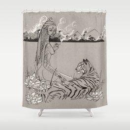 Egyptian Goddess Past Life Shower Curtain