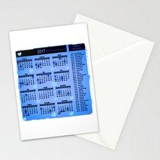 Blue hearts 2017 calendar Stationery Cards